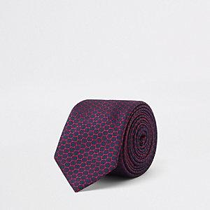 Marineblaue, bedruckte Krawatte