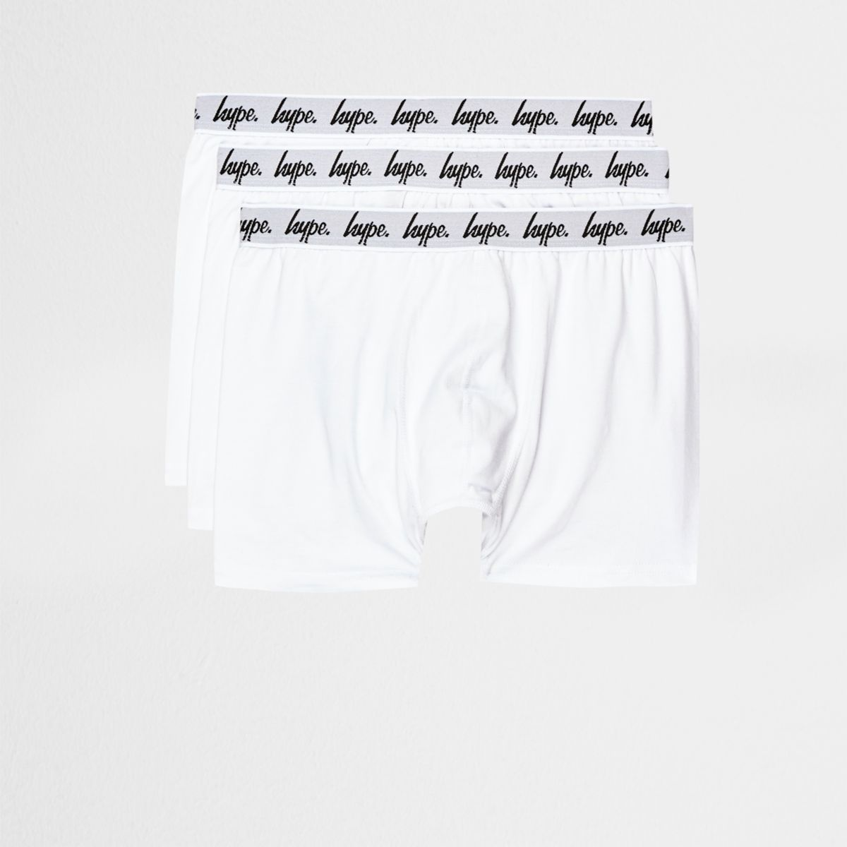 Hype white boxers multipack