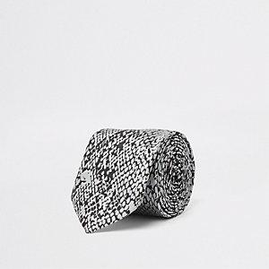 Grijze stropdas met slangenprint