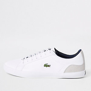 Lacoste white leather contrast sneakers
