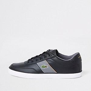 Lacoste Courtmaster sneakers van zwart leer