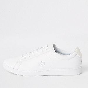 Lacoste – Weiße Sneaker aus Leder zum Schnüren