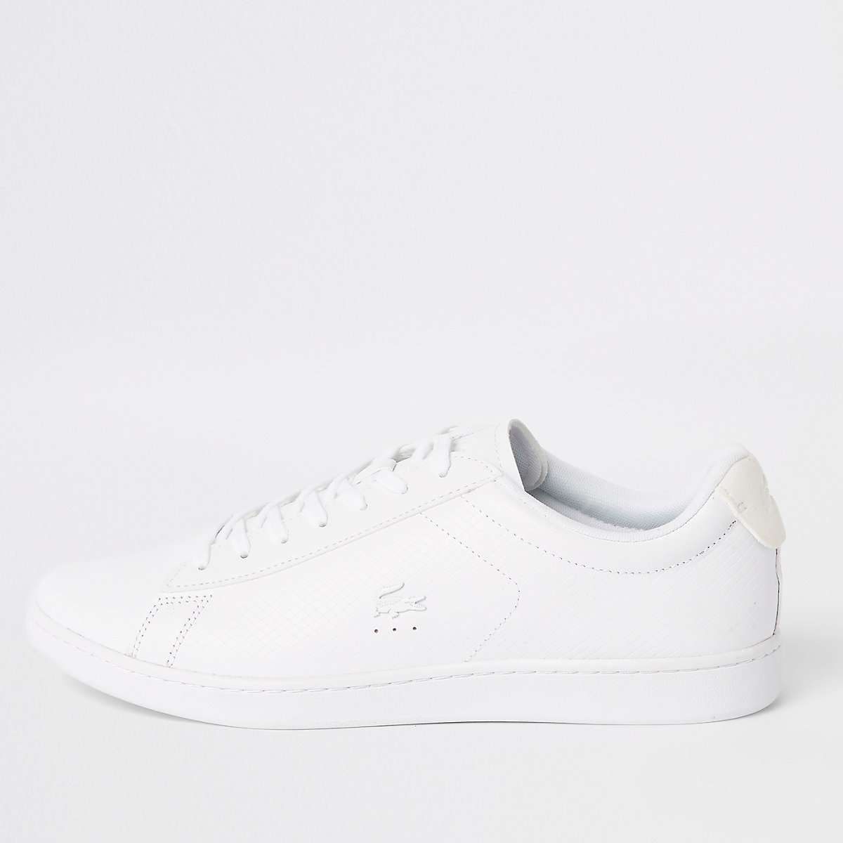 Lacoste white leather lace-up sneakers