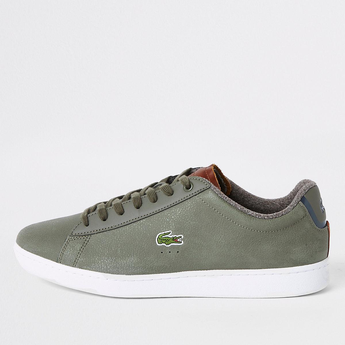 dda16b1815d Sneakers Schoenen Leren Vetersneakers Lacoste Groene Laarzen amp; IxtqI7n
