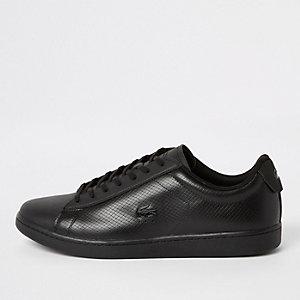 Lacoste – Schwarze Leder-Sneaker zum Schnüren