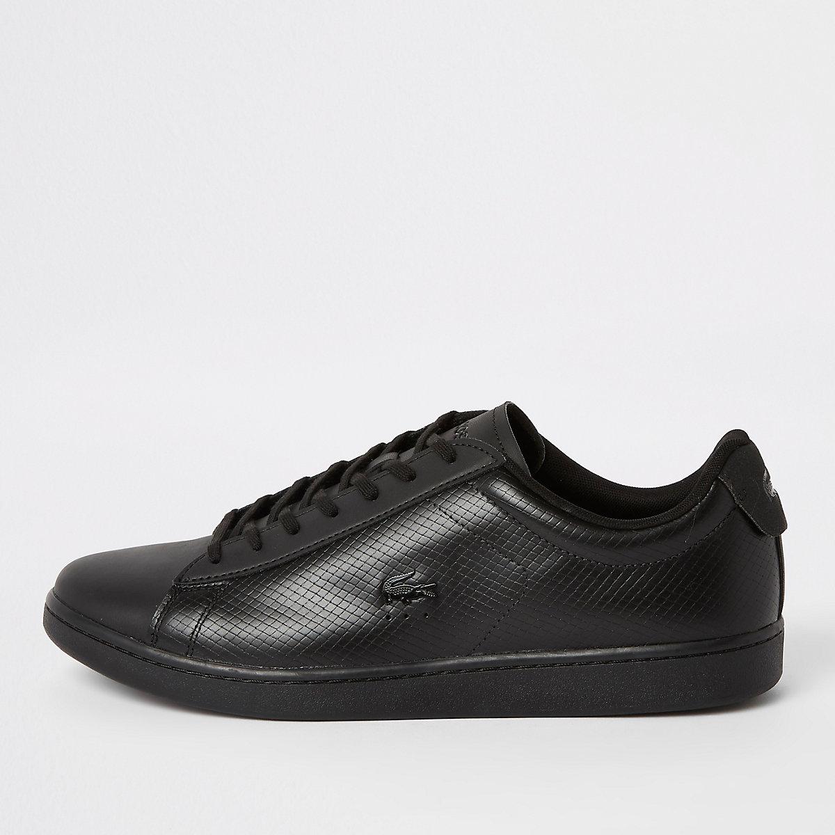 439034a5d7b Lacoste amp; Schoenen Sneakers Laarzen Zwarte Leren Vetersneakers vvw8x16q