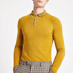 Olly Murs – Polo ajusté jaune