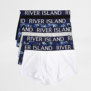 Blaue Hipster-Slips mit Palmenprint, 5er-Pack