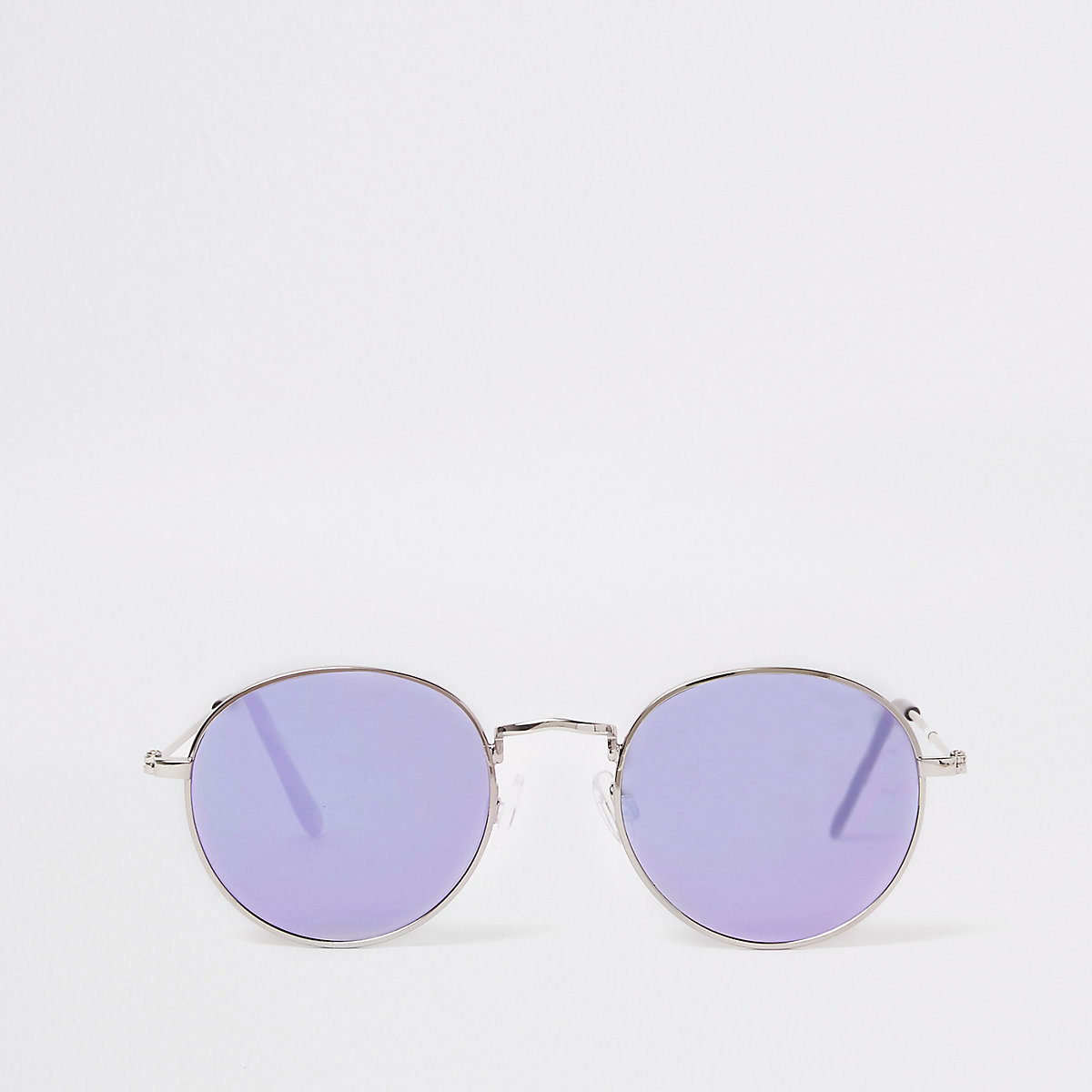 Silver round tinted lens sunglasses
