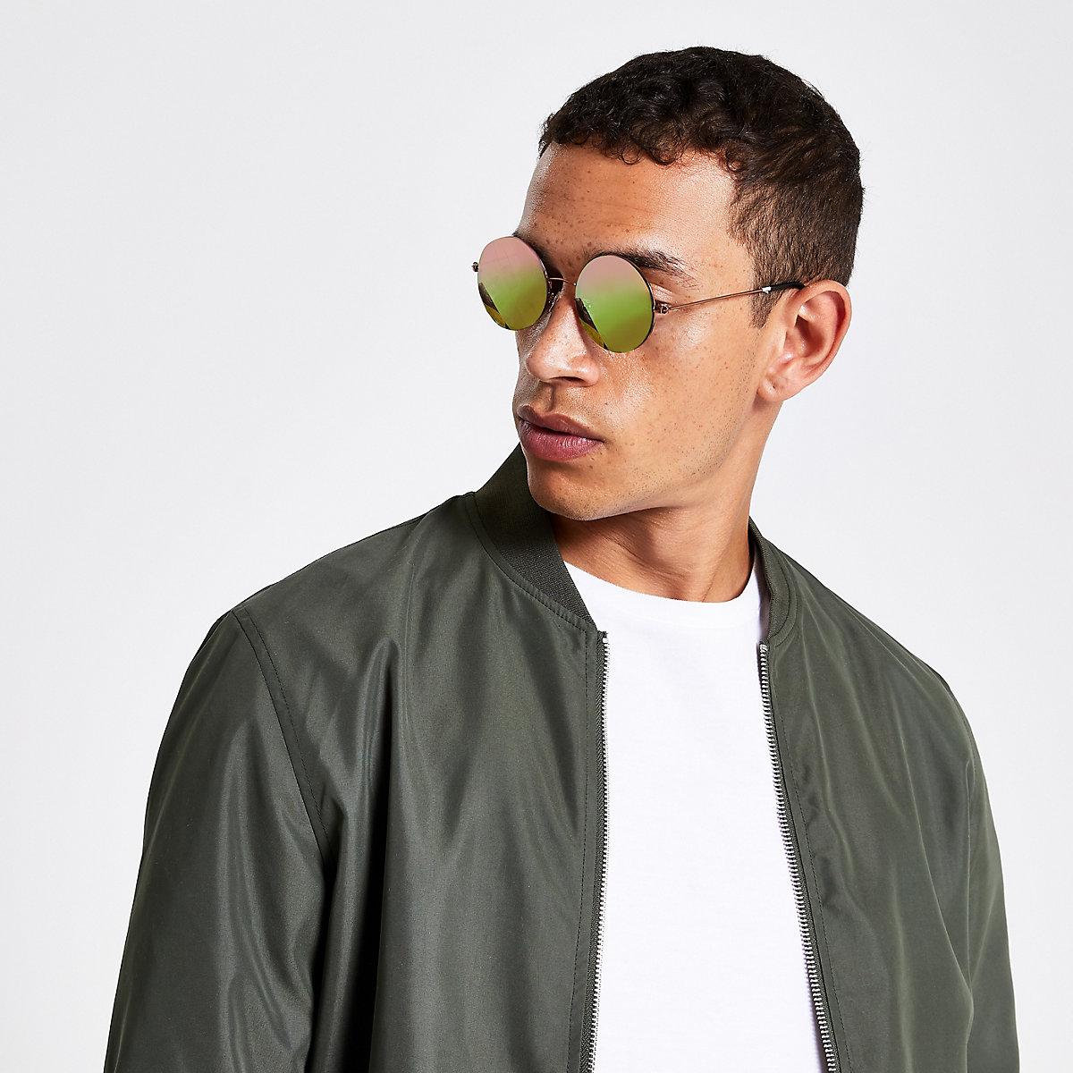 Grey round retro revo lens sunglasses