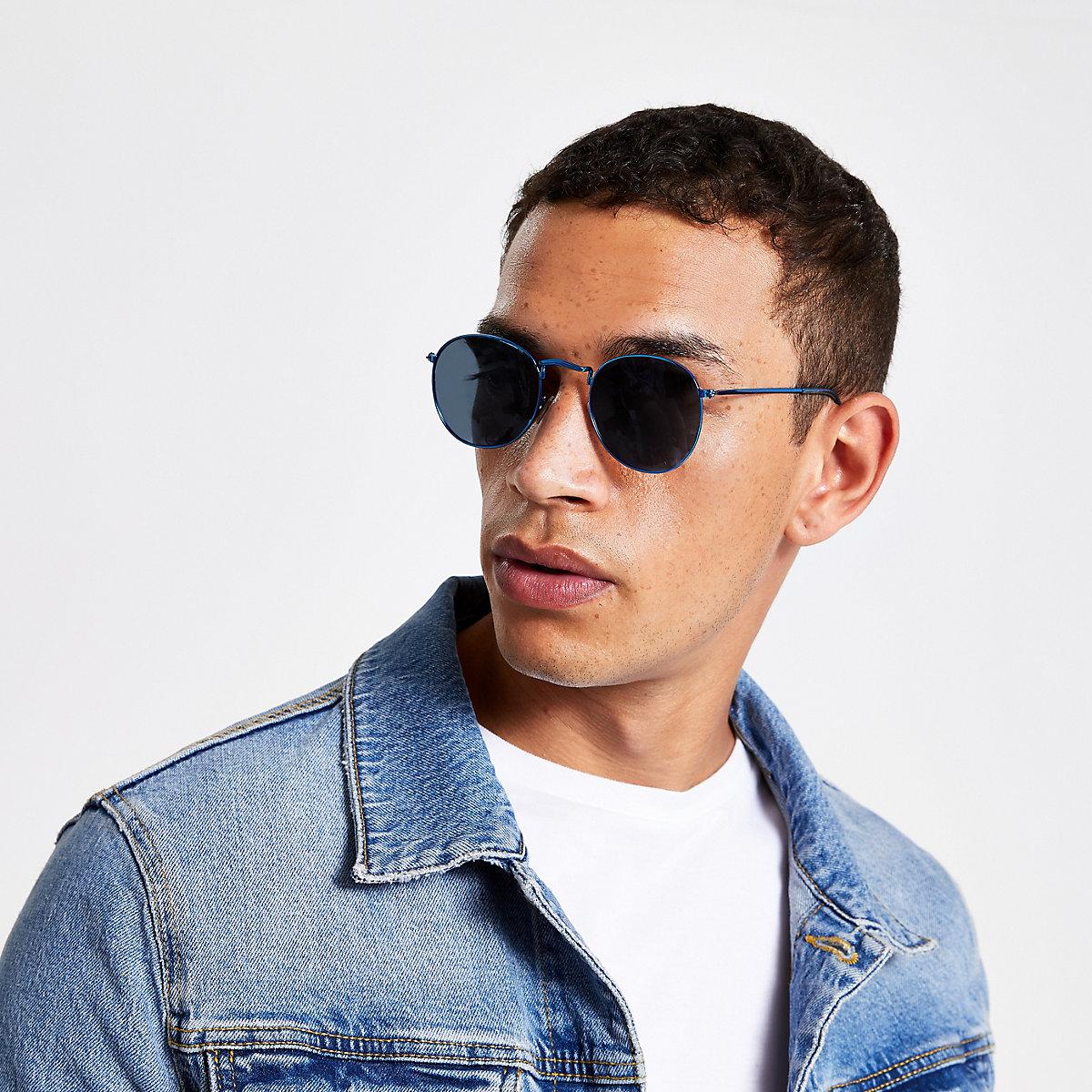 Blue revo round sunglasses