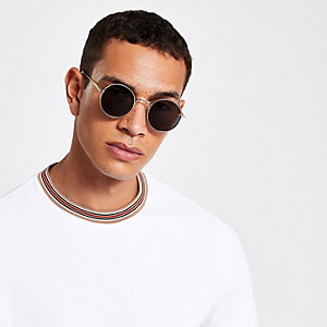 Runde Sonnenbrille in Gold