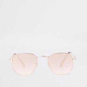Sonnenbrille in Roségold