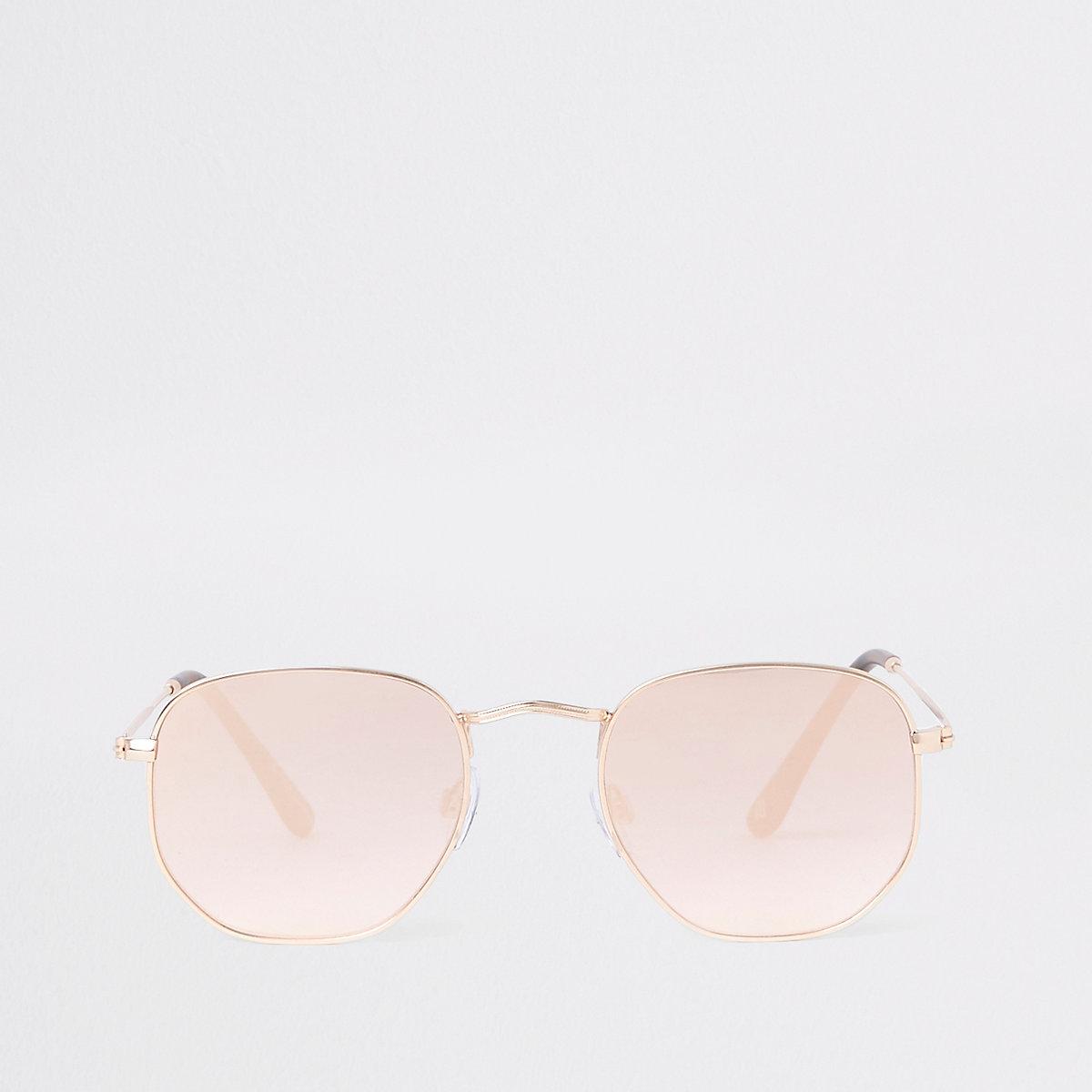 Rose gold revo hex sunglasses