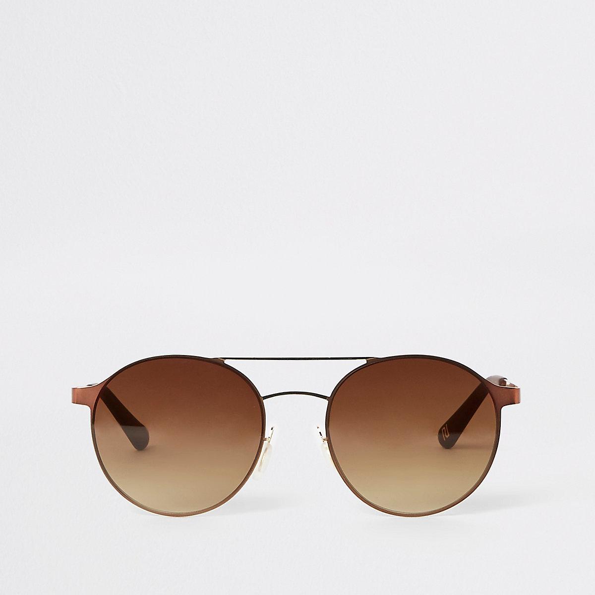 Lunettes de soleil aviateur marron