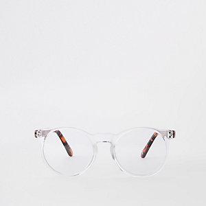 Transparente, runde Brille