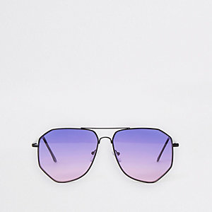 Pilotenzonnebril met paarse glazen