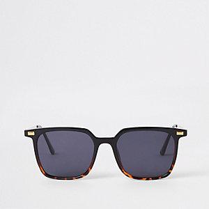 Braune Retro-Sonnenbrille in Schildpattoptik