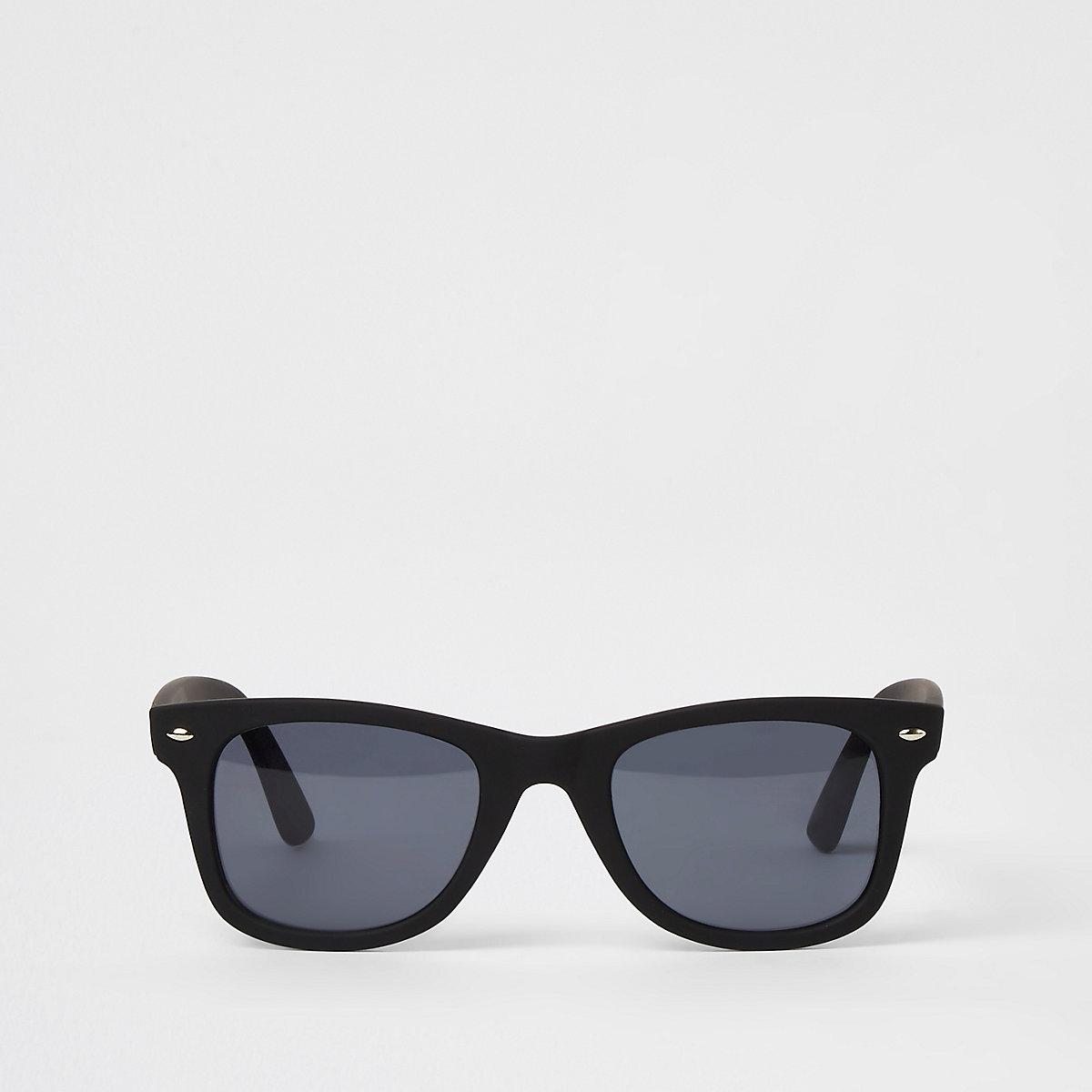 c15f876fad Black smoke lens retro square sunglasses - Retro Sunglasses ...