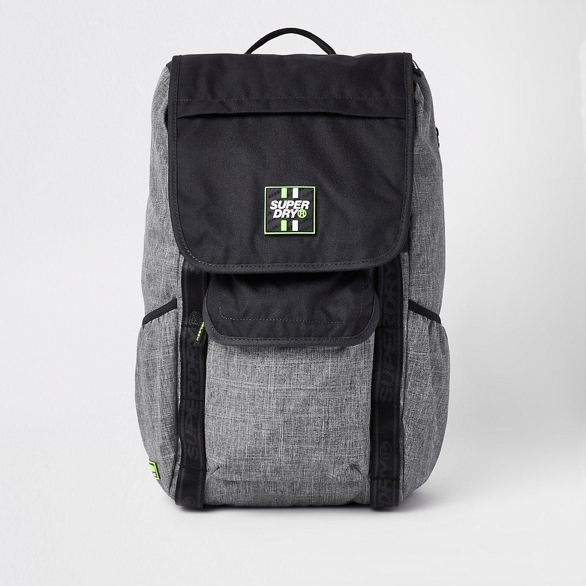 Superdry black Semester backpack