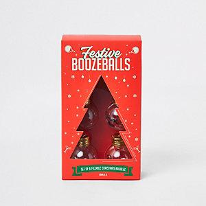 Rote, festliche Weihnachtskugeln