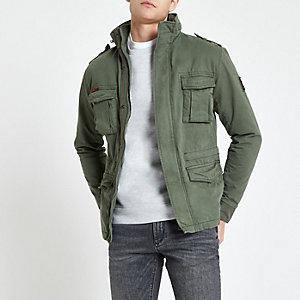 Superdry khaki classic four pocket jacket