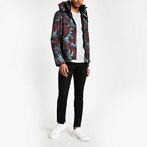 Superdry – Veste à capuche motif camouflage noire