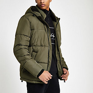Mens Puffer Jacket Mens Padded Jacket River Island