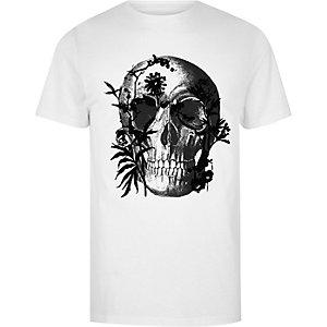 Big and Tall - Slim-fit T-shirt met doodshoofdprint