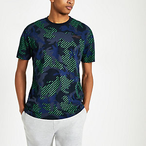 Superdry navy camo print T-shirt