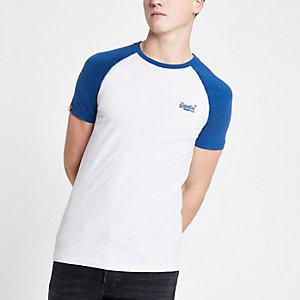Superdry – T-shirt bleu marine à manches raglan