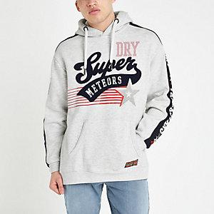 Superdry white logo hoodie