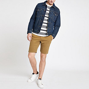 Superdry brown slim fit shorts