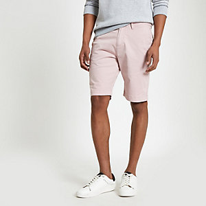 Superdry – Pinke Slim Fit Chino-Shorts