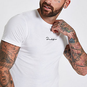 White 'prolific' muscle fit T-shirt