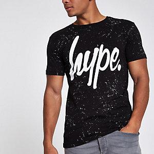 Hype – T-shirt imprimé moucheté noir
