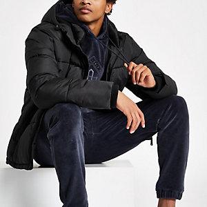 Gewatteerde 'Prolific' jas in zwart