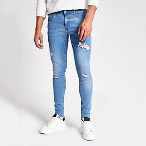 Ollie – Jean skinny bleu moyen déchiré