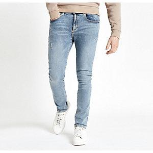 Lichtblauwe wash Danny superskinny jeans