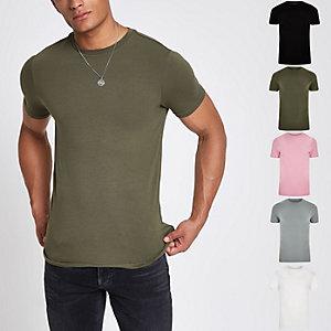 Lot de t-shirts ajustés multicolores