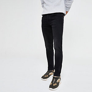 Dylan - Zwarte washed slim-fit jeans