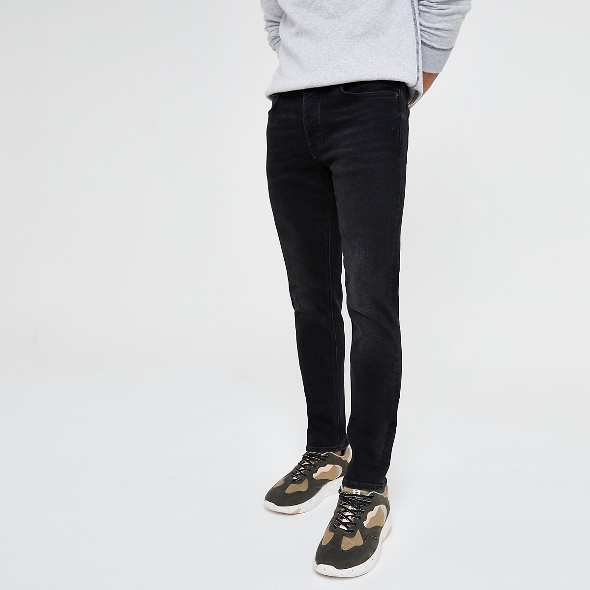 Black Dylan washed slim fit jeans