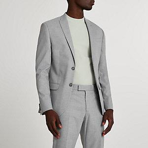 Graue Skinny Anzugsjacke