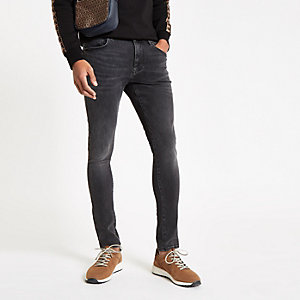 Danny - Zwarte washed superskinny jeans