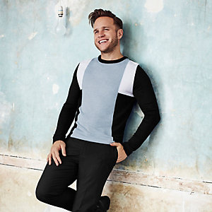Olly Murs – Schwarzer Slim Fit Pullover