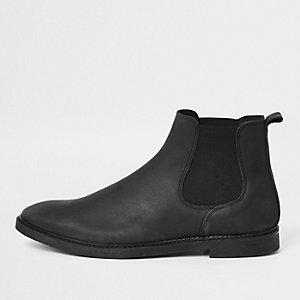 Zwarte chelsea boots van nubuckleer