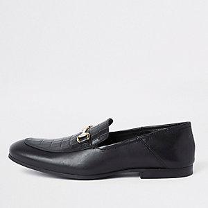 Schwarz Loafer aus Leder