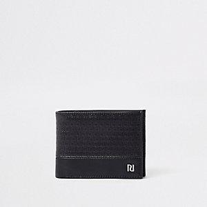 Schwarze Geldbörse mit RI-Monogramm
