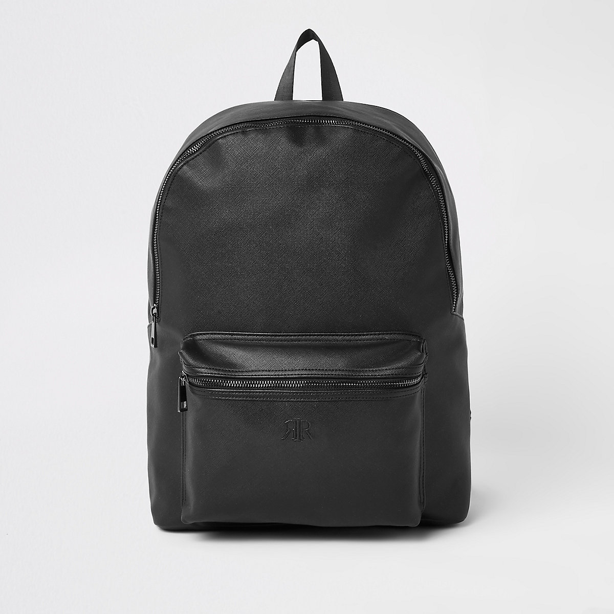 Black RI embossed backpack