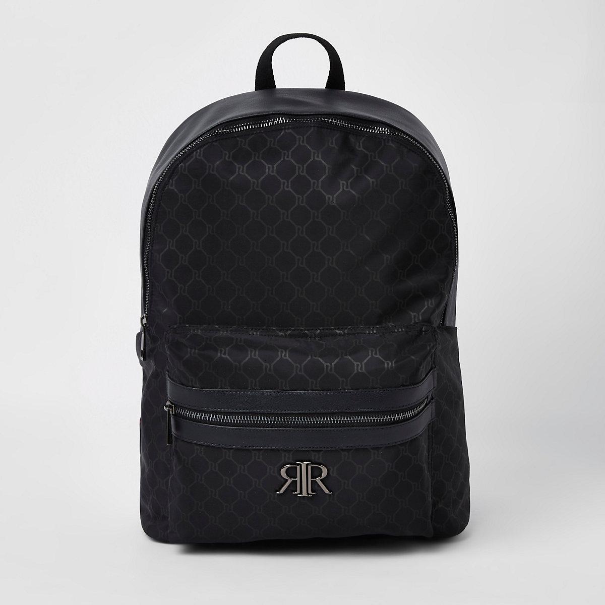 Black RI monogram backpack